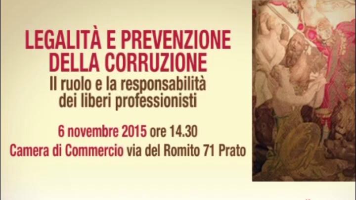 Legalità e prevenzione della corruzione - Prato del 11-11-2015