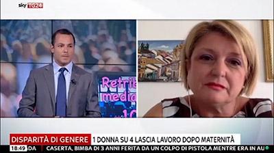 SkyTG24 Economia - Marina Calderone - Disparità di genere