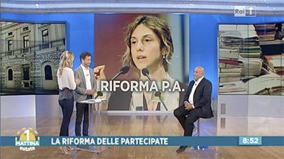 Rai1 - 1Mattina estate - Rosario De Luca - La riforma della P.A.