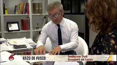 La 7 - DiMartedì. 11.10.2016   Enzo De Fusco
