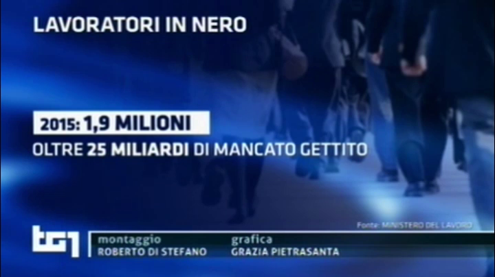 TG1 Economia - 25.03.2016 - Lavoratori in Nero