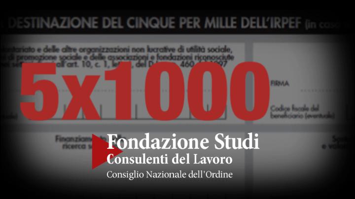 Destina il 5x1000 alla Fondazione Studi