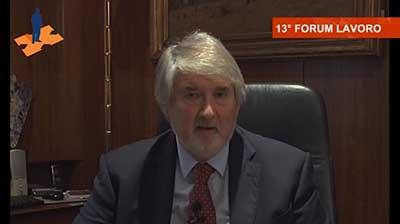 L'intervento del Ministro del Lavoro, Giuliano Poletti