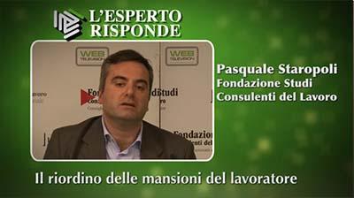 Pasquale Staropoli - Il riordino delle mansioni lavorative