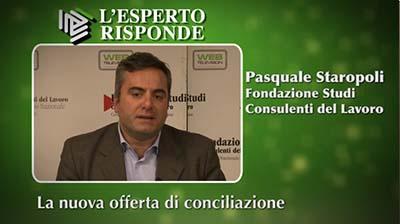 Pasquale Staropoli - La nuova offerta di conciliazione