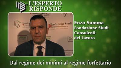 Enzo Summa - Dal regime dei minimi al regime forfettario