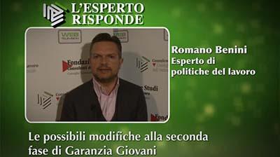 Romano Benini - Le possibili modifiche alla seconda fase di Garanzia Giovani