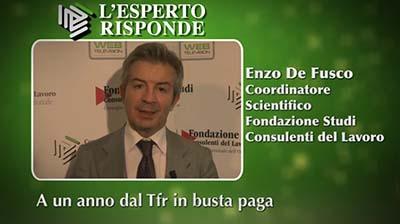 Enzo De Fusco - A un anno dal Tfr in busta paga