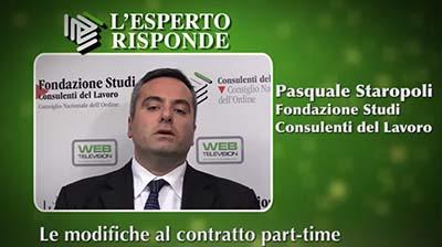 Pasquale Staropoli - Le modifiche al contratto part-time