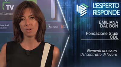 Emiliana Dal Bon. Elementi accessori del contratto di lavoro