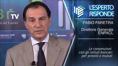 Fabio Faretra - Convenzioni ENPACL per prestiti e mutui