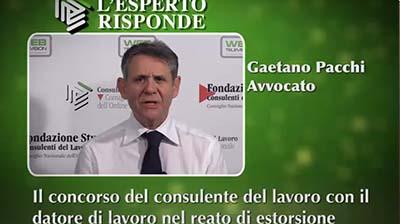 Gaetano Pacchi - Il concorso del CdL con il datore nel reato di estorsione