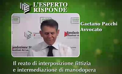 Gaetano Pacchi - Il reato di interposizione fittizia
