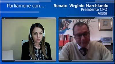 Intervista al Presidente di Aosta, Renato Virginio Marchiando - 12.04.2016
