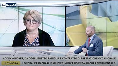 RaiNews24 del 10.07.2017. Marina Calderone