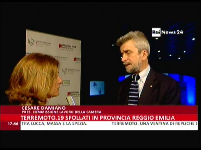 RaiNews24: intervista a Cesare Damiano