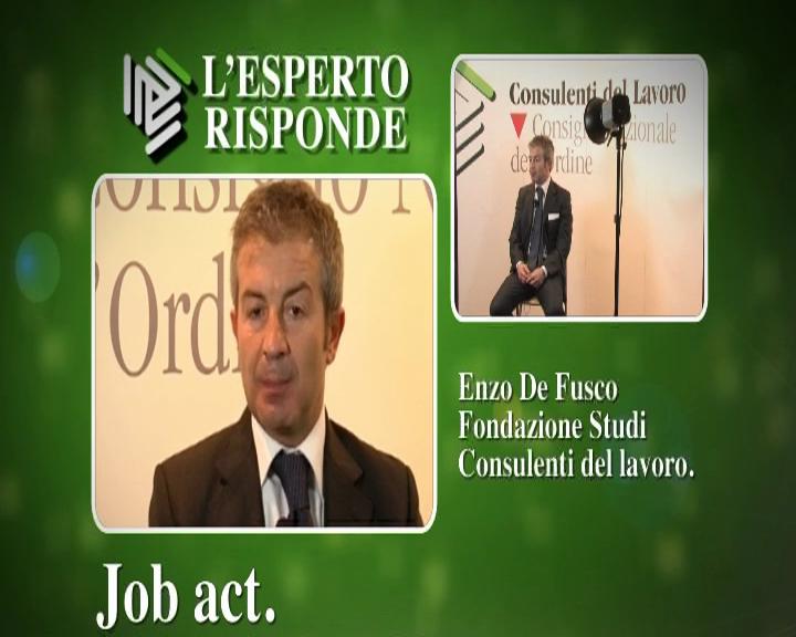 L'esperto risponde: De Fusco su Jobs Act