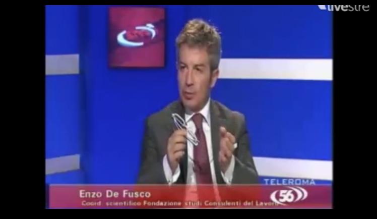 Enzo De Fusco a TeleRoma 56 su Jobs Act