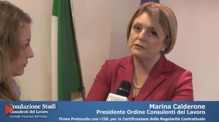 Firma Protocollo D'Intesa tra Min. Lavoro e CDL - Marina Calderone