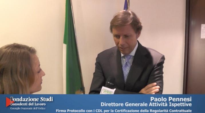 Firma Protocollo D'Intesa tra Min. Lavoro e CDL - Paolo Pennesi