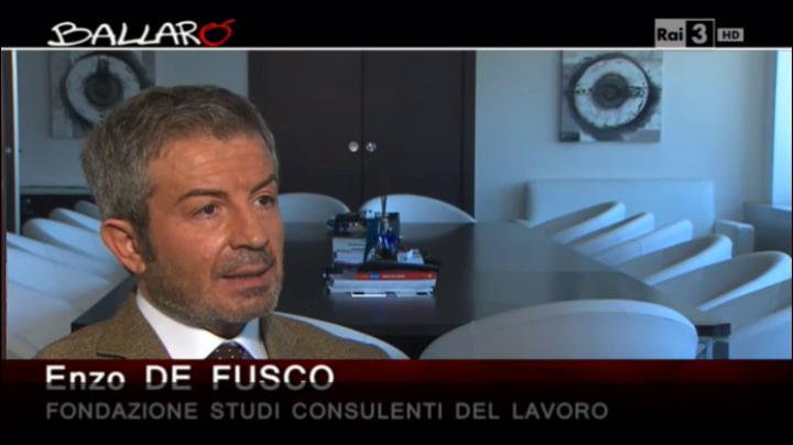 Ballarò - Enzo De Fusco sulle pensioni