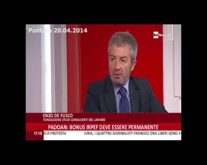 RaiNews 24 - De Fusco sul bonus irpef