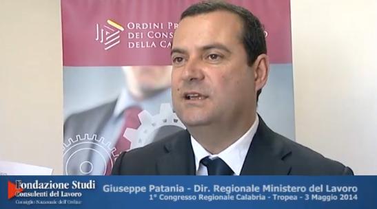 1° Congresso Regionale Calabria - Intervista a Giuseppe Patania