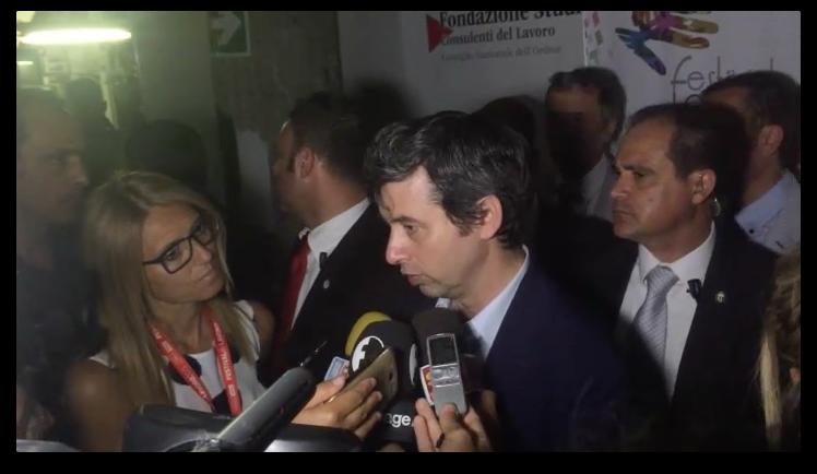 Il Ministro della Giustizia Andrea Orlando al Festival del Lavoro
