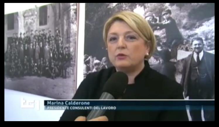 TG1 Economia del 19.04.2015, interviene Marina Calderone