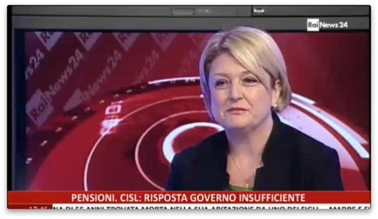 18.05.2015 - Marina Calderone a RaiNews24 su Pansioni