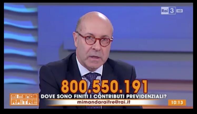 22.05.2015 - Paolo Stern a Mi Manda Rai 3 su Pensioni