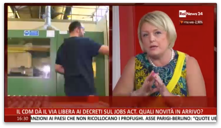 04.09.2015 - Marina Calderone a Rai News 24 su Jobs Act