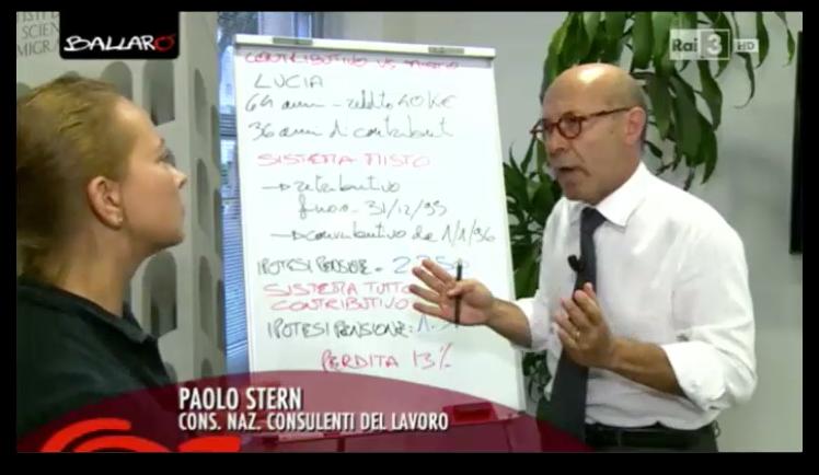 08.09.2015 - Paolo Stern a Ballarò su Pensioni