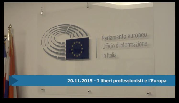 20.11.2015 - I liberi professionisti e l'Europa
