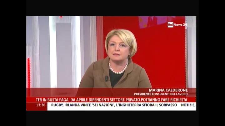 RaiNews24: M. Calderone sul Tfr in busta paga