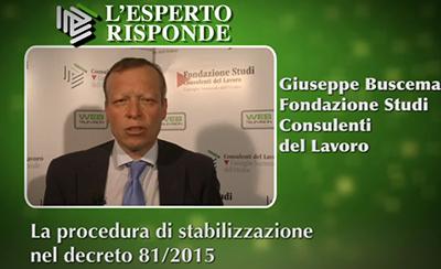 Giuseppe Buscema - La stabilizzazione delle co.co.co.