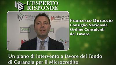 Francesco Duraccio - Un piano a favore del Microcredito