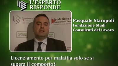 Pasquale Staropoli - Licenziamenti per malattia.