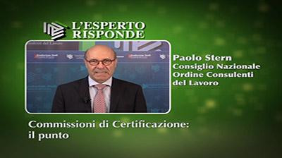 Paolo Stern - Commissioni di certificazione: il punto