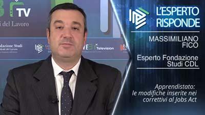 Massimiliano Fico. Apprendistato: le modifiche del D.Lgs correttivo del Jobs Act