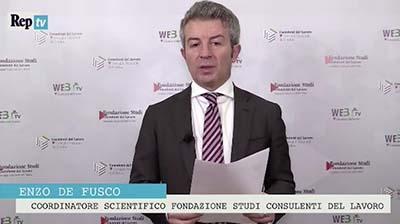 RepTV - De Fusco - 1° Rapporto CDL su Occupazione