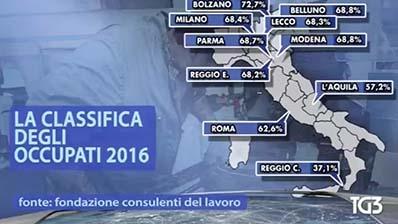 Tg3 del 29.04.2017. R. De Luca su Rapporto occupazione Italia