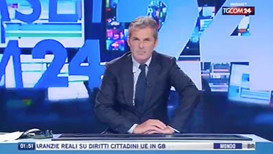 TgCom 24 del 30.04.2017. Rapporto occupazione Italia