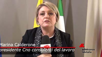 AdnKronos del 10.11.2017 - Intervista alla neopresidente Calderone
