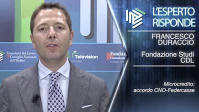 Francesco Duraccio. Microcredito: accordo CNO - Federcasse