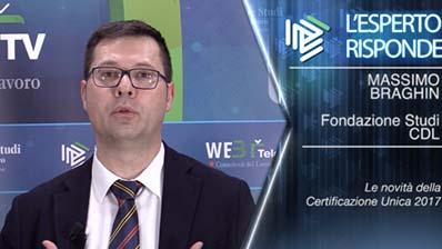 Massimo Braghin. Le novità della Certificazione Unica 2017