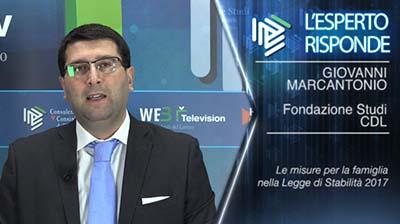 L'esperto risponde - Giovanni Marcantonio. Le misure per la famiglia nelle Legge di Stabilità 2017