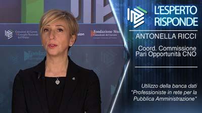 Antonella Ricci. Professioniste in rete per la PA