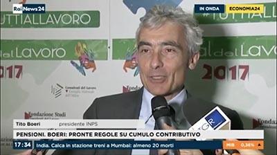 Rainews24-Tito Boeri al Festival del Lavoro 2017  su cumulo contributivo