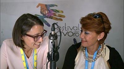 Giorgia D'Errico al Festival del Lavoro 2017